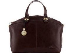 Брендовая коричневая сумка из итальянской телячьей кожи высочайшего качества