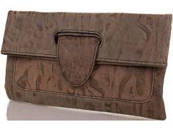 Оригинальный кожаный клатч-трансформер под мраморные разводы