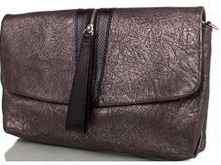 Стильная небольшая сумочка-клатч из фактурной натуральной кожи