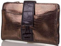 Великолепный бронзово-коричневый кожаный клатч