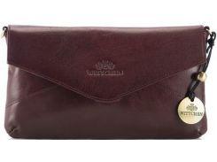 Стильная и вместительная бордовая кожаная сумочка-клатч