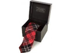 Классический шелковый галстук в яркую клетку