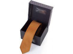 Насыщенный темно-оранжевый галстук для уверенных в себе мужчин