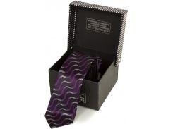 Завораживающий шелковый галстук в фиолетовых тонах