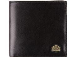 Стильное черное кожаное портмоне с кредитницей