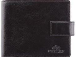 Стильное черное портмоне из натуральной кожи с отделением для паспорта и водительского  удостоверения
