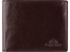 Коричневое кожаное портмоне с отделениями для паспорта и водительского удостоверения