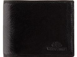 Черное кожаное портмоне с отделениями для паспорта и водительского удостоверения