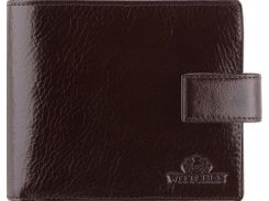 Стильное коричневое портмоне из натуральной кожи с отделением для паспорта и водительского удостоверения