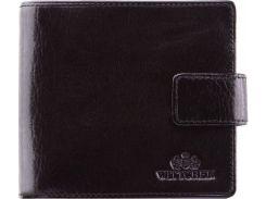 Небольшое черное портмоне из натуральной кожи