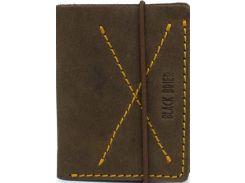 Тонкий мужской кошелек-портмоне коричневого цвета из натуральной кожи