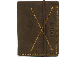 Стильное компактное коричневое портмоне из натуральной кожи