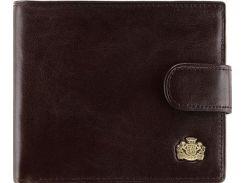 Универсальное коричневое кожаное портмоне с отделением для автодокументов