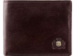 Компактное и вместительное коричневое кожаное портмоне