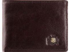 Стильное тонкое кожаное портмоне коричневого цвета