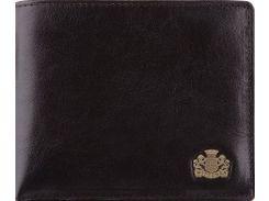 Черное кожаное портмоне с съемной кредитницей