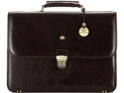 Коричневый кожаный портфель для делового мужчины