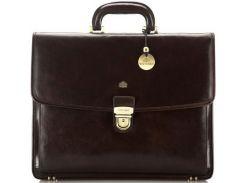 Брендовый кожаный портфель коричневого цвета