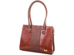 Строгая рыжевато-коричневая сумка для элегантных дам