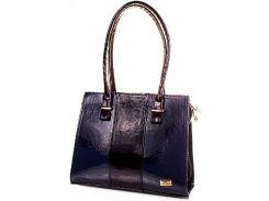 Строгая темно-синяя сумка для элегантных дам