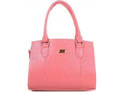 Потрясающая розовая сумочка с тиснением под крокодила