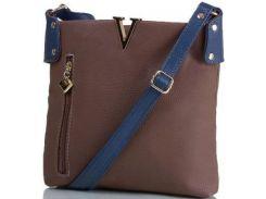 Коричневая с синим оригинальная сумка для независимой стильной женщины