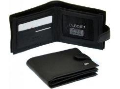 Черное кожаное портмоне с двумя отделениями и карманами для визиток
