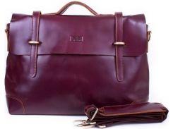 Изящный коричневый портфель из плотной натуральной кожи