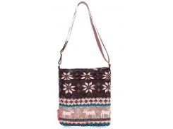 Модная стеганая женская сумочка-планшет с северным узором