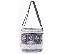 Удобная женская сумочка-планшет с зимним рисунком