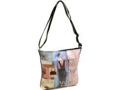 Эффектная женская сумка с женским силуэтом