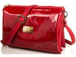 Для уверенных в себе леди яркая красная сумочка-клатч из лакированной эко кожи