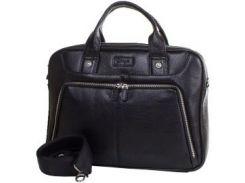 Современная сумка-портфель из натуральной кожи на застежке молнии