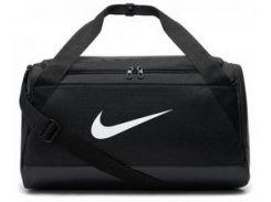 Черная спортивная сумка Nike NK BRSLA S DUFF с вентилируемым отсеком для влажных вещей