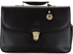 Элегантный черный кожаный портфель коллекции City Leather