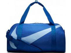 Удобная и вместительная темно-синяя спортивная сумка