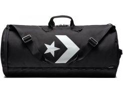 Вместительная и удобная черная спортивная сумка округлой формы