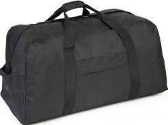 Надежная дорожно-спортивная сумка черного цвета