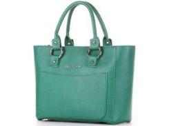 Деловая женская сумка alba soboni зеленого цвета