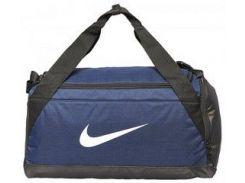 Синяя спортивная сумка Nike NK BRSLA S DUFF с вентилируемым отсеком для влажных вещей