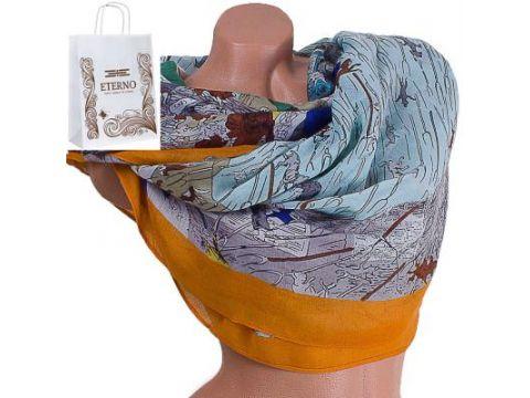 Женский хлопковый шарф 183 на 88 см  ETERNO (ЭТЕРНО) ES0908-1-2 Киев