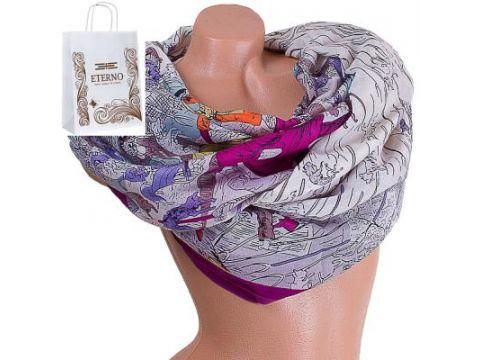Женский хлопковый шарф 185 на 87 см  ETERNO (ЭТЕРНО) ES0908-1-3 Киев