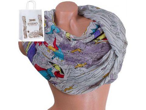 Женский хлопковый шарф 185 на 87 см  ETERNO (ЭТЕРНО) ES0908-1-5 Киев