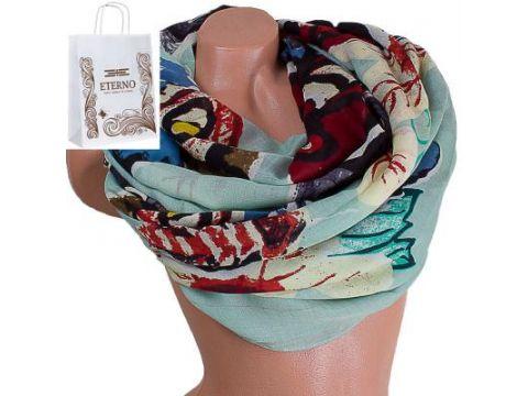 Женский хлопковый шарф 184 на 87 см  ETERNO (ЭТЕРНО) ES0908-2-3 Киев