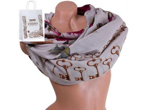 Женский хлопковый шарф 182 на 87 см  ETERNO (ЭТЕРНО) ES0908-3-1 Киев