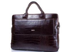 """Мужская кожаная сумка с отделением для ноутбука с диагональю экрана до 13,3"""" DESISAN (ДЕСИСАН)"""