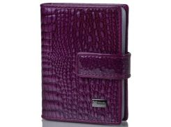 Женская кожаная визитница WANLIMA (ВАНЛИМА) W62081170457-purple