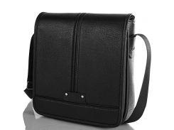 Мужская сумка-почтальонка из качественного кожезаменителя BONIS (БОНИС) SHIM8098-black