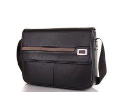 Мужская сумка-почтальонка из качественного кожезаменителя BONIS (БОНИС) SHIL8101-black