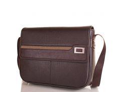 Мужская сумка-почтальонка из качественного кожезаменителя BONIS (БОНИС) SHIL8101-brown